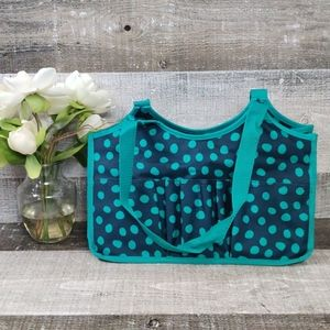 Thirty-one teal dot keep it caddy tote